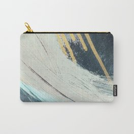 Karma: a bold abstract in blues and gold Carry-All Pouch