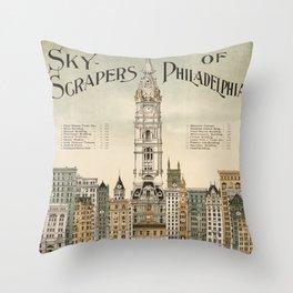 Vintage poster - Philadelphia Throw Pillow