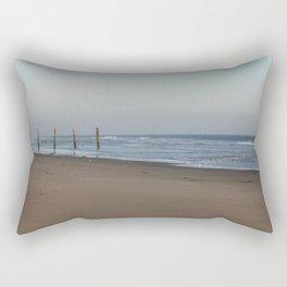 Beach Fence Rectangular Pillow