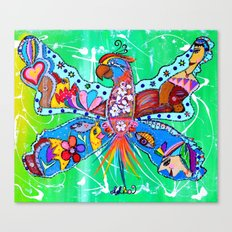 PARROFLY WITH ME! Canvas Print