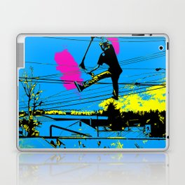 Tailgating - Stunt Scooter Tricks Laptop & iPad Skin