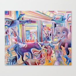 The Mall is a Zoo Canvas Print