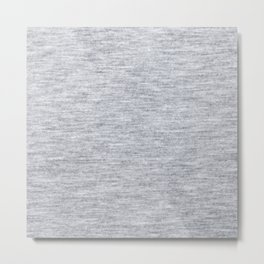 Grey Knitted Fabric Metal Print