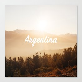 Reloj Argentina Clock Canvas Print