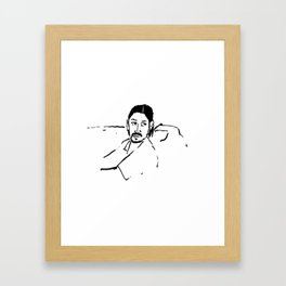 This guy's a professional... Framed Art Print