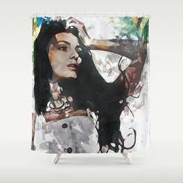 Wonder Abstract Portrait Shower Curtain