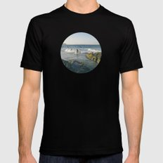 Surfers MEDIUM Black Mens Fitted Tee