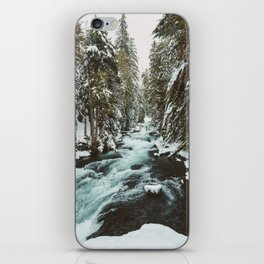 The Wild McKenzie River Portrait - Nature Photography iPhone Skin