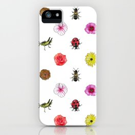 Bugs and Florals iPhone Case