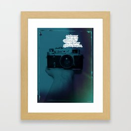 about moment Framed Art Print