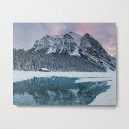 Sunset at Lake Louise Metal Print