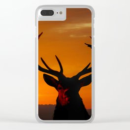 Highland Stag Clear iPhone Case