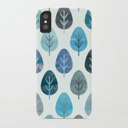 Watercolor Forest Pattern #2 iPhone Case
