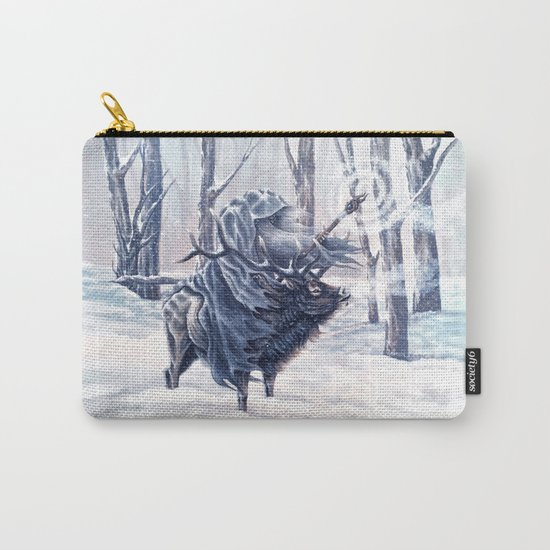 Magical Wizard Riding an Elk in the Snow Carry-All Pouch