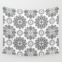 Black and white abstract pattern . 15 Wall Tapestry