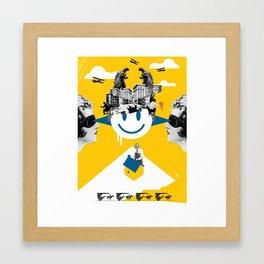 Future Primitive Framed Art Print