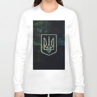 ukraine Long Sleeve T-shirts featuring Ukraine by rudziox