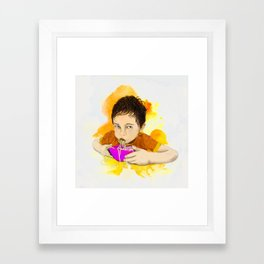 Nicky vs the Spaghetti Framed Art Print