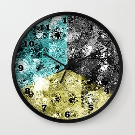 Glass Tiles Tricolor CBY Wall Clock