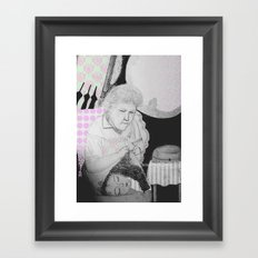old woman Framed Art Print