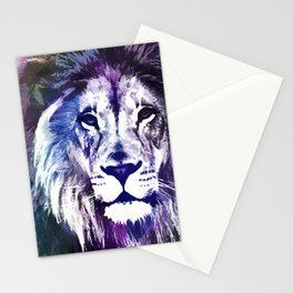 Purple Lion Stationery Cards