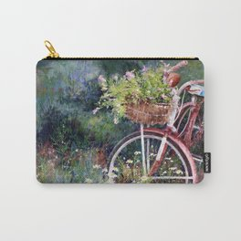 Red Bicycle Between the Weeds Carry-All Pouch