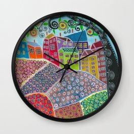 Village of Fun Wall Clock