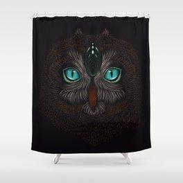 Owl Totem Shower Curtain