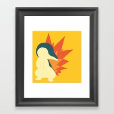 Cyndaquil Splat Framed Art Print