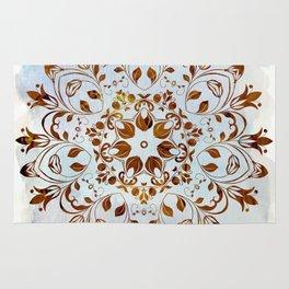 golden mandala design Rug