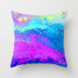 Abstract Beautiful Sink Paint Mess 2019 Throw Pillow