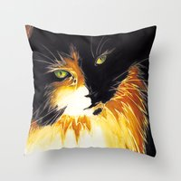 shadow Throw Pillows featuring Shadow by DTice