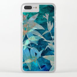 Abstract watercolor background and branch plant Clear iPhone Case
