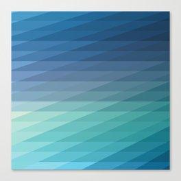 Fig. 042 Blue Geometric Diagonal Stripes Canvas Print