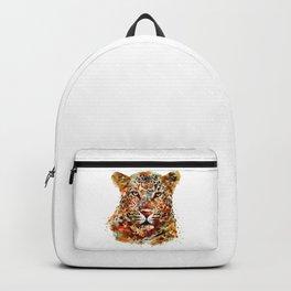 Leopard Head watercolor Backpack