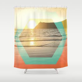 Port Erin - color graphic Shower Curtain