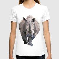 rhino T-shirts featuring Rhino by Liam Brazier