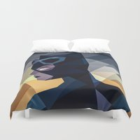 dc comics Duvet Covers featuring DC Comics Catwoman by Eric Dufresne