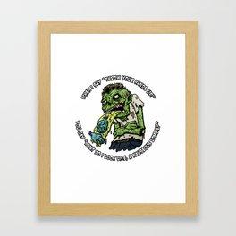 Zombie Hands Framed Art Print