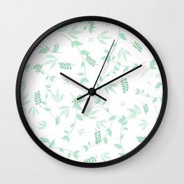Celebration Greenery Pattern Wall Clock