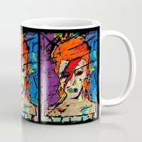 persona Mugs featuring David Bowie. A Lad Insane by brett66