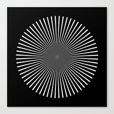 Op Art Flash (Minimalist Design) Canvas Print
