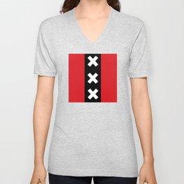 Vertical Amsterdam Flag  Unisex V-Neck