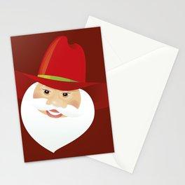 Santa Claus. Cowboy. Stationery Cards