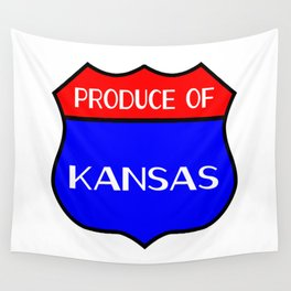 Produce Of Kansas Wall Tapestry