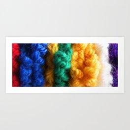 Cozy Knit Stripe Art Print