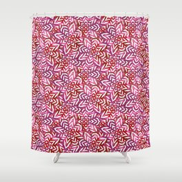 I don't need to improve - Pink and red Shower Curtain