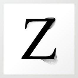 oboTypo _ Z Art Print
