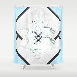 Scandinavian Marble Shower Curtain