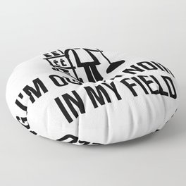gift for janitor Floor Pillow